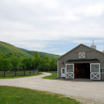 front of stables